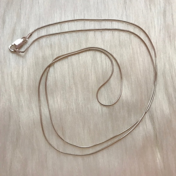 """Jewelry - NWOT 24"""" .925 Sterling Silver Snake Chain Necklace"""